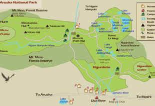 Arusha-National-Park-map