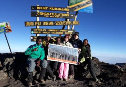Guests on Mount Kilimanjaro