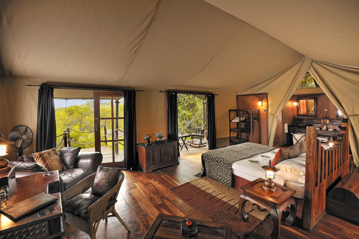 Serengeti-Migration-Camp-bedroom interior wide--Serengeti-Wito-Africa-Safaris