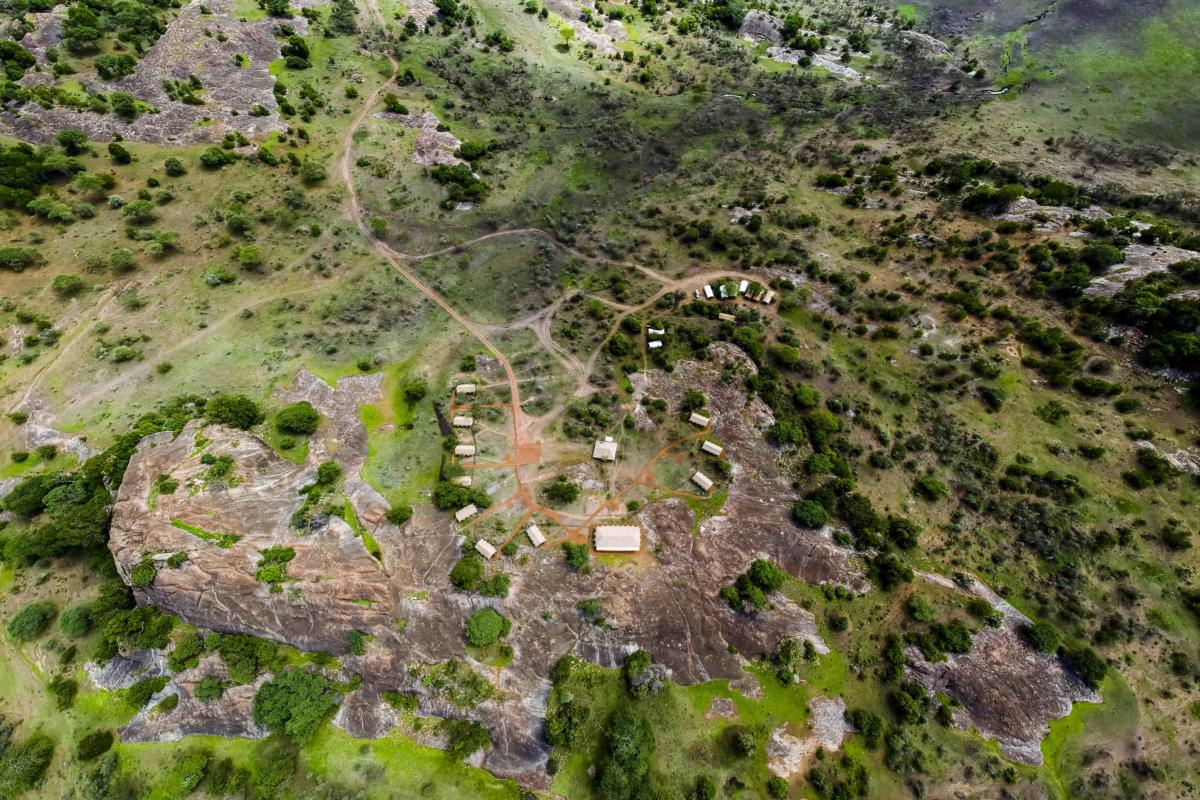overview-from-air-Sanctuary-kichakani-tented--Serengeti-Wito-Africa-Safaris-Tanzania
